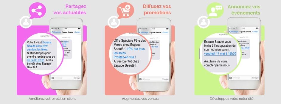 Campagne SMS institut de beauté