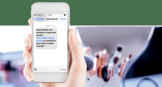 campagne SMS gratuite en salon esthétique