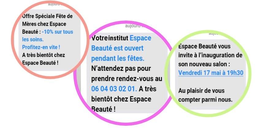 campagne SMS gratuite en salon esthétique lsinstitut sms campagen spa esthetique institut beauté